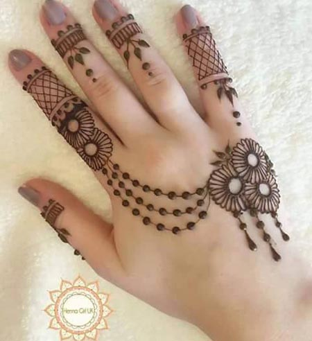 Latest Beautiful Best Simple Arabic Mehndi Designs For Hands 2016