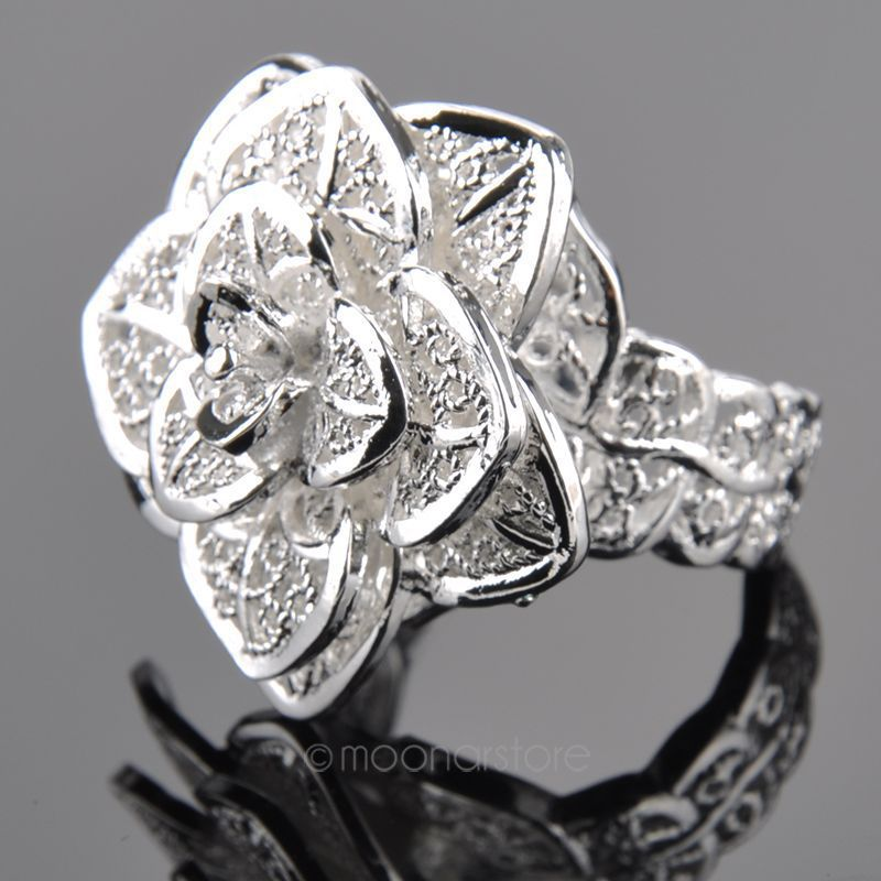 Amazing Silver Stylish Ring For Girl Engagement Pictures ...